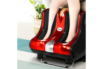 Livemor Foot Massager Shiatsu Ankle Calf Leg Massagers Circulation Enhancer Machine Red