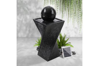 Gardeon Solar Water Fountain Pump Ball Indoor Outdoor Fountains LED Light Rechargable Battery Bird Bath