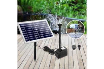 Gardeon Solar Pond Pump Water Fountain Pump Kit Power Pool Outdoor Submersible 60W Power 4 Spray Patterns