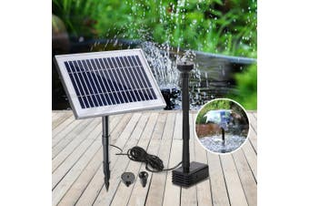 Gardeon Solar Pond Pump Water Fountain Pump Kit Power Pool Outdoor Submersible 25W Power 2 Spray Patterns