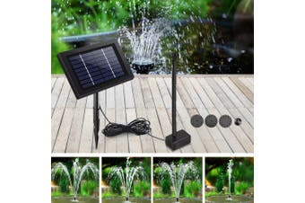 Gardeon Solar Pond Pump Water Fountain Pump Kit Mini Power Pool Outdoor Submersible 8W Power 4 Spray Patterns