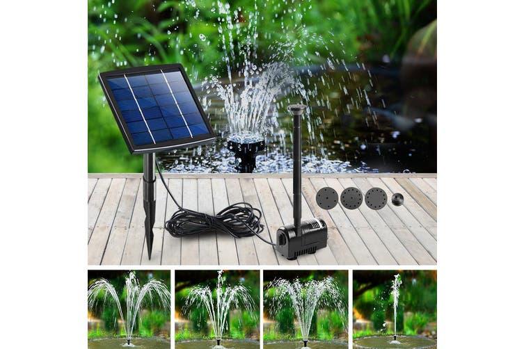 Gardeon Solar Pond Pump Water Fountain Pump Kit Mini Power Pool Outdoor Submersible 5W Power 6 Spray Patterns