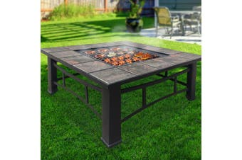 Grillz 4 IN 1 Outdoor Fire Pit Table Garden BBQ Grill Ice Pits Firepit