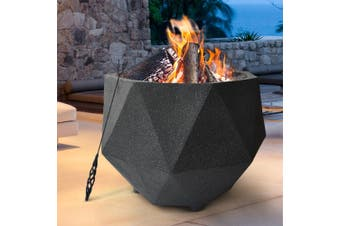 Grillz Charcoal Fire Pit Bowl Wood Burning Patio Oven Camping Fireplace