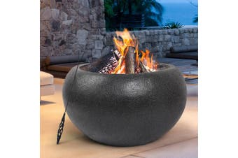 Grillz Portable Fire Pit Bowl Outdoor Wood Burning Patio Oven Fireplace