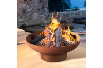 Grillz Copper Fire Pit Camping Wood Burner Rustic Outdoor Iron Bowl Heater