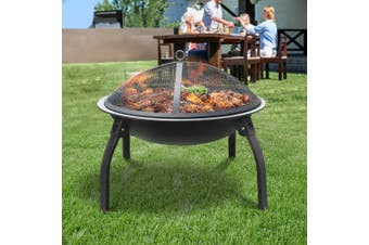 """Grillz Portable Outdoor Fire Pit BBQ Camping Garden Patio  Fireplace 22"""""""