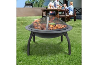 """Grillz Portable Outdoor Fire Pit BBQ Camping Patio Foldable Fireplace 30"""""""