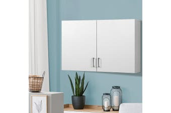 Artiss Bathroom Kitchen Laundry Cabinet Floating Storage Unit Cupboard Organizer White
