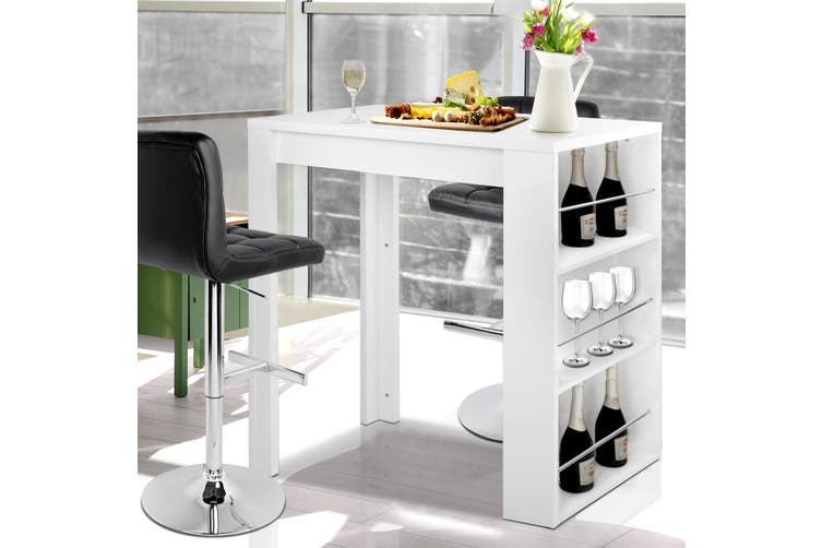 Artiss Bar Table Dining Storage Shelf Wine Rack Home Kitchen Office Desk