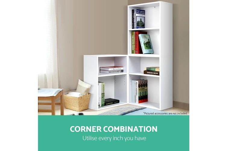Artiss 3pcs Cube Bookcase Display Storage Cabinet Shelf Book Rack Stand Kid
