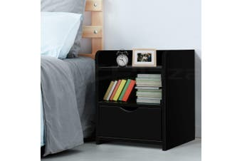 Artiss Bedside Tables Drawers Side Table Bedroom Furniture Nightstand Black Unit