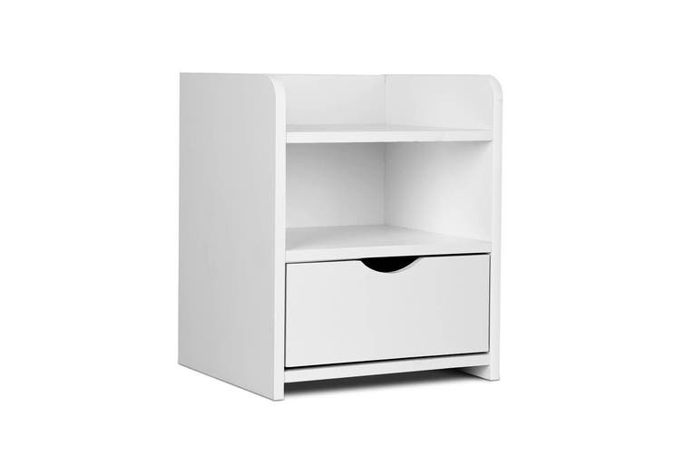 Artiss Bedside Tables Drawers Side Table Bedroom Nightstand White Unit