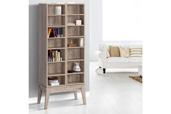 Artiss CD/DVD Media Storage Display Shelf Cabinet Rack Bookshelf Bluray Oak