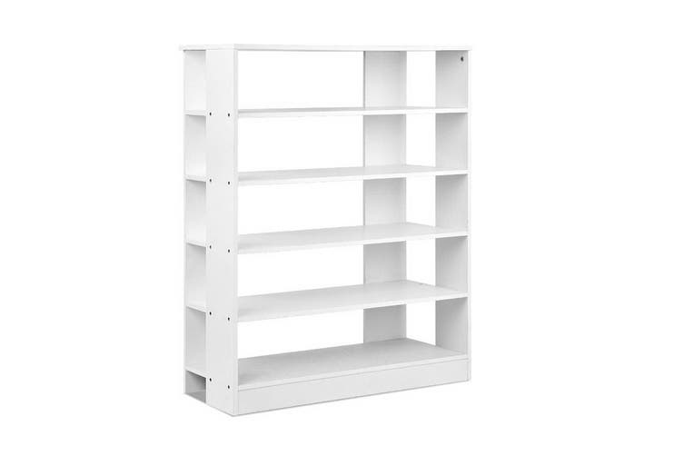 Artiss Shoe Cabinet Shoes Organiser Storage Rack 30 Pairs White Shelf Wooden