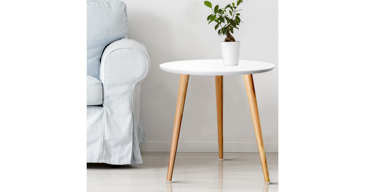 Dick Smith Artiss Coffee Table Side Tables Bedside Round Lamp Home Office Laptop Wood Side Tables
