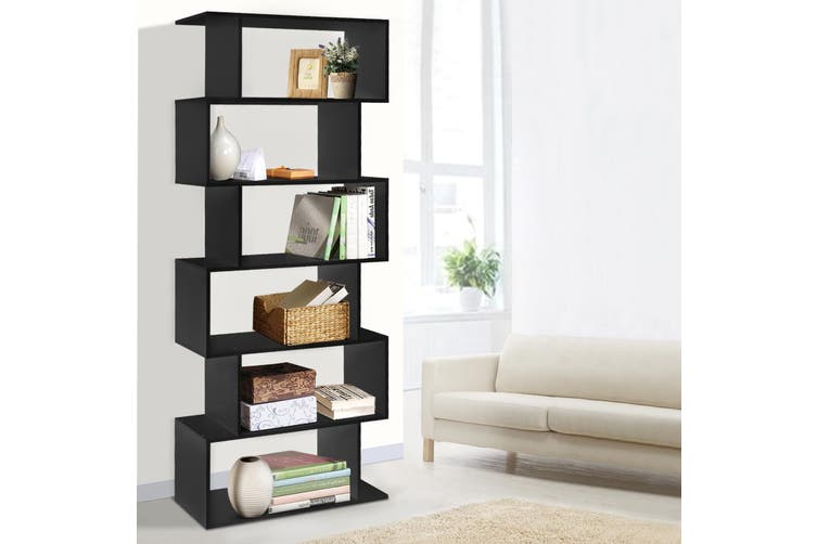 Artiss 6 Tier Display Shelf Cabinet Storage Bookshelf Bookcase Ladder Rack