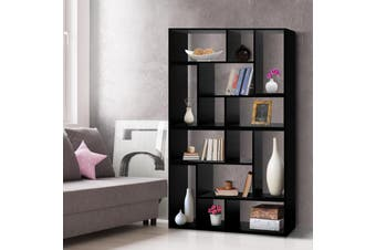 Artiss DIY Display Cube Shelf Ladder Bookcase Storage TV Cabinet Unit Black