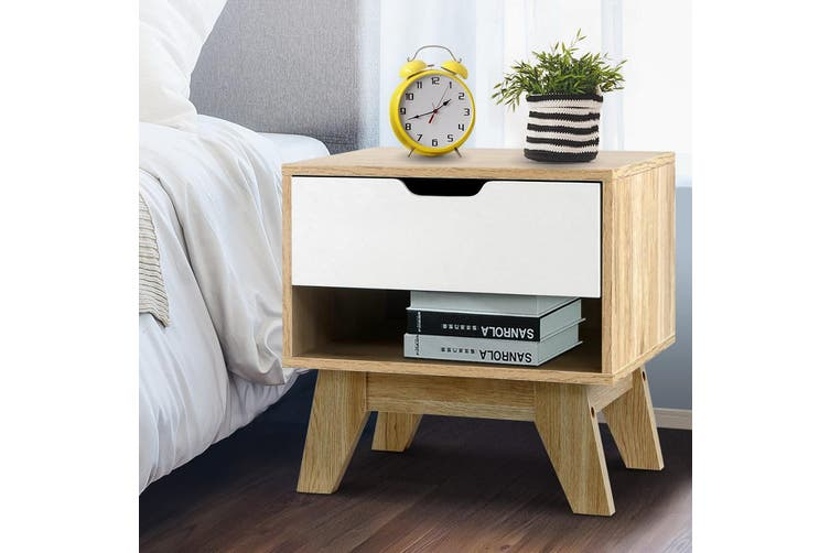 Artiss Bedside Tables Drawers Side Table Bedroom Furniture Nightstand Stand Lamp