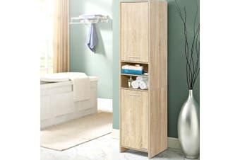 Artiss 185cm Bathroom Cabinet Tallboy Furniture Toilet Storage Laundry Cupboard Oak
