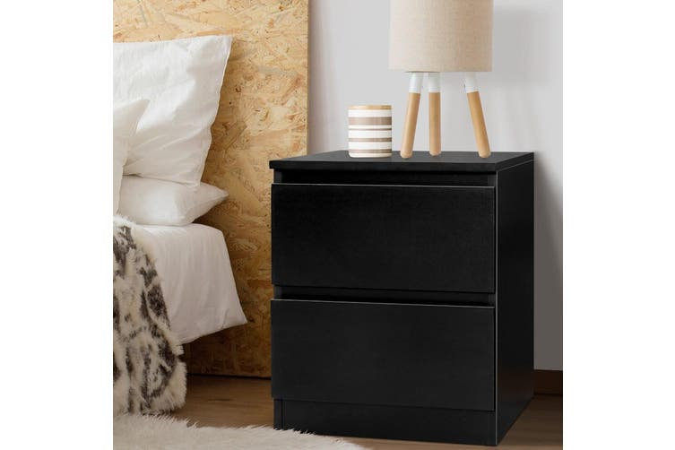 Artiss Bedside Table Pepe Collection Black Matt Blatt