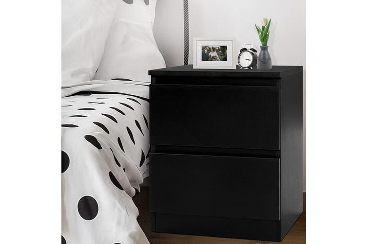 Artiss Bedside Tables Drawers Side Table Bedroom Furniture Nightstand Black Lamp