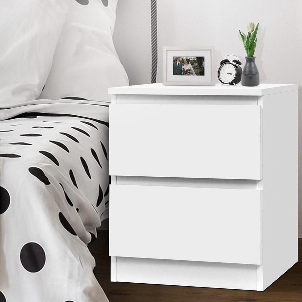 Picture of: Artiss Bedside Tables Drawers Side Table Bedroom Furniture Nightstand White Lamp Kogan Com
