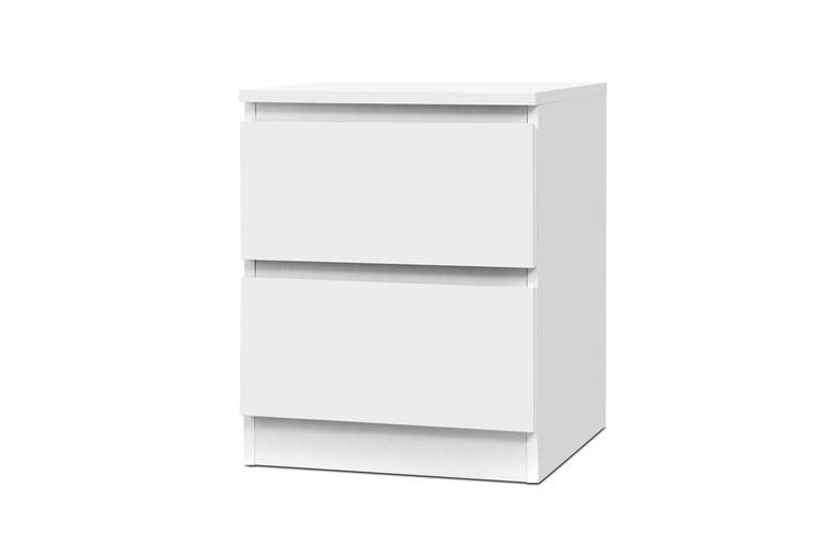 Artiss Bedside Tables Drawers Side Table Bedroom Furniture Nightstand White Lamp