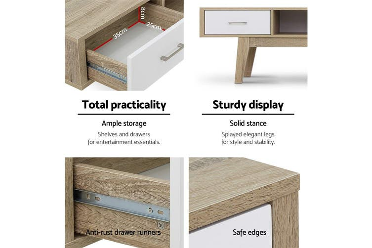 Artiss TV Cabinet Entertainment Unit Stand Storage Scandinavian 180cm