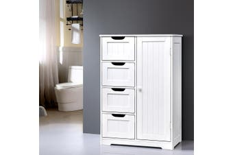 Artiss Bathroom Storage Cabinet Laundry Toilet Cupboard Tallboy Shelf Drawer