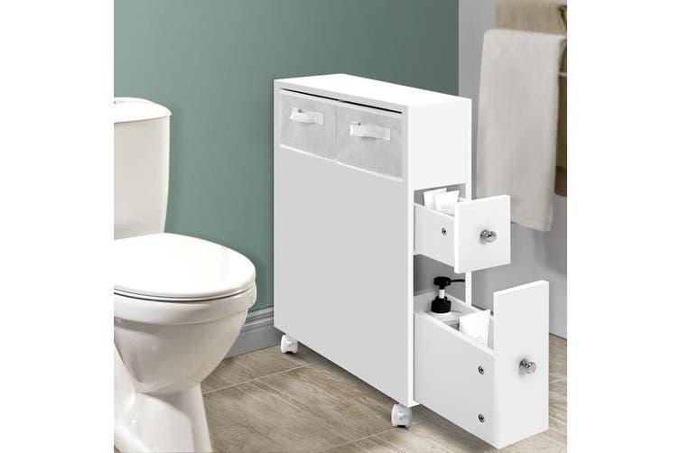 Artiss Bathroom Storage Toilet Caddy W, Bathroom Caddy On Wheels
