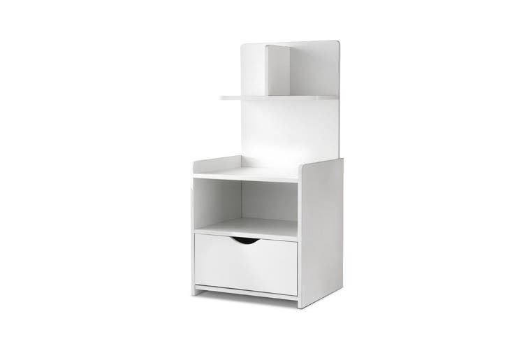Artiss Bedside Tables Drawers Side Table Storage White Bedroom Nightstand Lamp