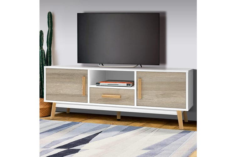 Artiss Tv Unit Tv Cabinet Entertainment Unit Storage Drawer Wooden 120cm Matt Blatt