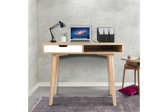 Artiss Office Computer Desk Study Table Storage Drawers Student Laptop Wood
