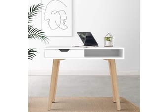 Artiss Office Computer Desk Study Table Storage Drawers Student Laptop White