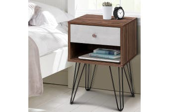 Artiss Bedside Tables Drawers Side Table Storage Cabinet Bedroom Wood Lamp Unit