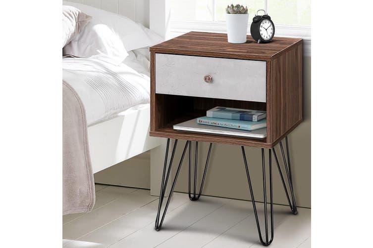 Artiss Bedside Tables Drawers Side Table Storage Cabinet Bedroom Wood Lamp Unit
