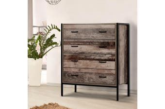 Artiss 4 Chest of Drawers Tallboy Bedroom Dresser Storage Cabinet Wooden