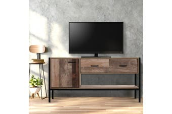 Artiss TV Cabinet Entertainment Unit Stand Storage Wooden Industrial Rustic
