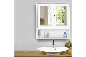 Artiss Storage Mirror Wall Cabinet Bathroom Tallboy Toilet Cupboard