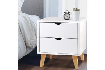 Artiss Bedside Tables Drawers Side Table White Nightstand Storage Cabinet Unit