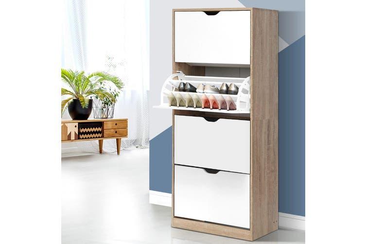 Artiss Shoe Cabinet Shoes Storage Rack 60 Pairs Organiser Wooden Shelf Cupboard