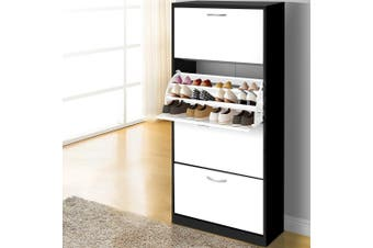 Artiss Shoe Cabinet Shoes Organiser Storage Rack 60 Pairs Cupboard Shelf Drawers