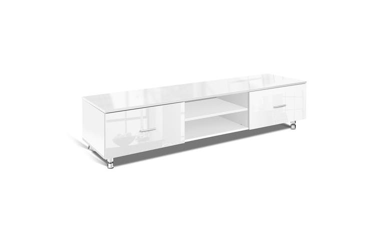 Artiss TV Cabinet Entertainment Unit Stand High Gloss 160CM Lowline White