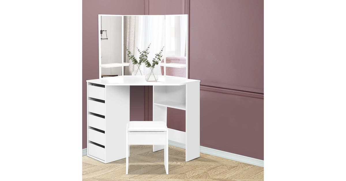 Artiss Corner Dressing Table With