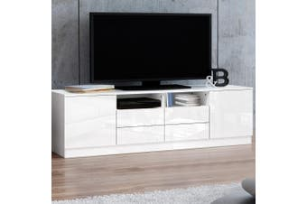 Artiss TV Cabinet Entertainment Unit Stand High Gloss Furniture White 180cm