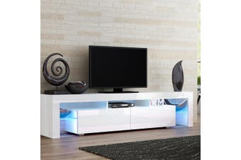 Artiss 189cm RGB LED TV Cabinet Entertainment Unit Stand Gloss Furniture White