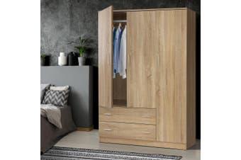Artiss Wardrobe Bedroom Clothes Closet 3 Doors Storage Cabinet Organiser Armoire