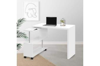Artiss Office Computer Desk Corner Study Table Workstation Bookcase Swivel