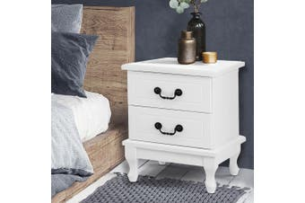 Artiss KUBI Bedside Tables Drawers Side Table French Nightstand Storage Cabinet